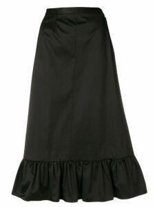 Yves Saint Laurent Pre-Owned ruched hem skirt - Black