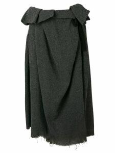 Comme Des Garçons Pre-Owned paper bag waist raw hem skirt - Grey