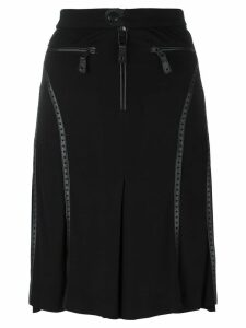 Jean Paul Gaultier Pre-Owned perforated leather effect trim skirt -