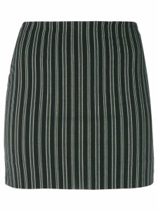 Romeo Gigli Pre-Owned striped mini-skirt - Black
