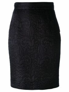 Moschino Pre-Owned jacquard pencil skirt - Black