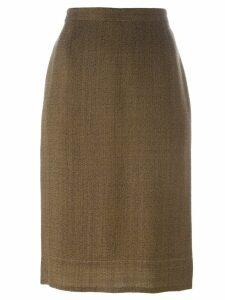 Prada Pre-Owned classic pencil skirt - Brown