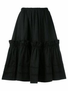 Yves Saint Laurent Pre-Owned Rive Gauche tiered skirt - Black