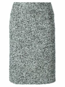 Jean Louis Scherrer Pre-Owned bouclé skirt - Black