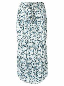 Fendi Pre-Owned floral print skirt - Blue