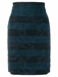Dolce & Gabbana Pre-Owned embroidered detail pencil skirt - Blue