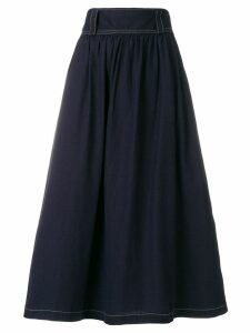 Yohji Yamamoto Pre-Owned flared midi skirt - Blue