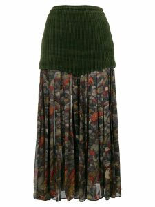 Versace Pre-Owned floral pleated midi skirt - Green