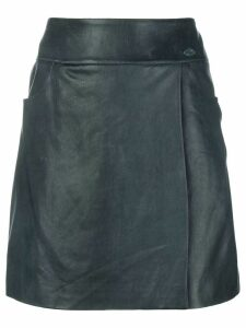 Chanel Pre-Owned a-line short skirt - Blue