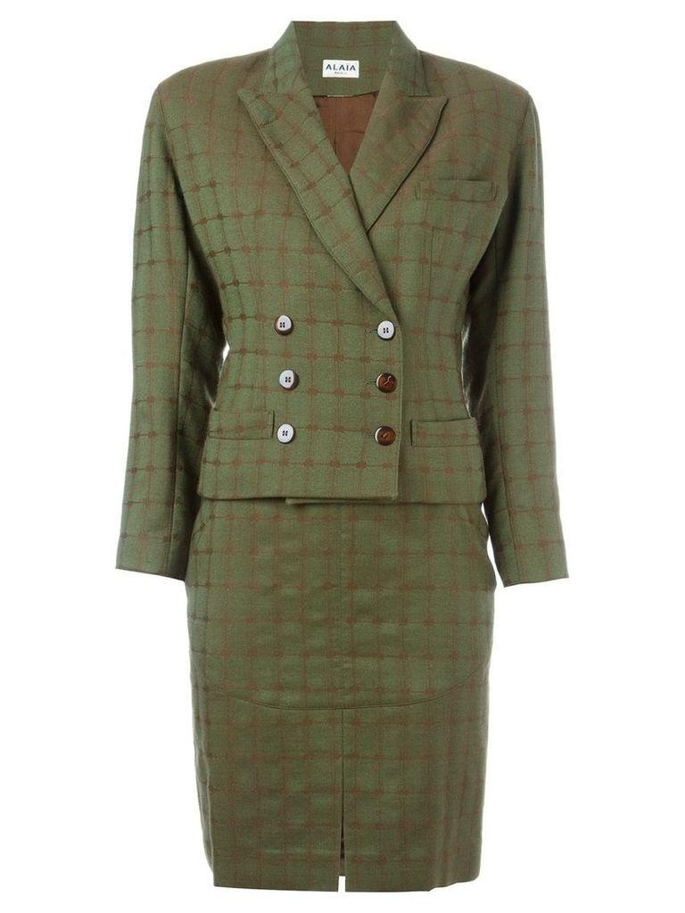 Alaïa Vintage skirt and jacket suit - Green