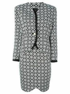 Versace Pre-Owned mosaic print skirt suit - Black