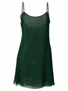 Giorgio Armani Pre-Owned textured flared cami - Green