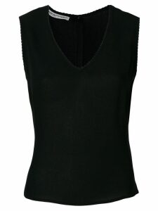 Giorgio Armani Pre-Owned scalloped detailing blouse - Black