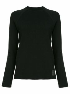Chanel Pre-Owned side stripes ribbed jumper - Black