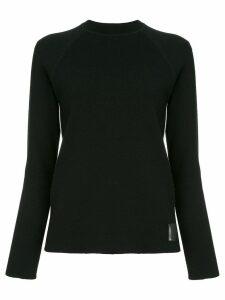 Chanel Pre-Owned side stripes ribbed jumper - Black