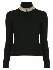 Chanel Pre-Owned branded turtle neck jumper - Black