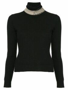 Chanel Pre-Owned branded turtle neck jumper - Black