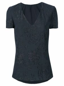 Giorgio Armani Pre-Owned floral lace blouse - Black