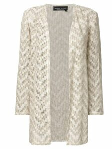 Jean Louis Scherrer Pre-Owned open knit cardigan - NEUTRALS