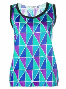 Yves Saint Laurent Pre-Owned geometric print tank top - Multicolour