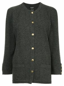 Chanel Pre-Owned buttoned up cardigan - Grey
