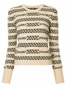 Chanel Pre-Owned cashmere logo intarsia jumper - Brown