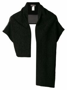 Yohji Yamamoto Pre-Owned panelled shoulder shrug - Black
