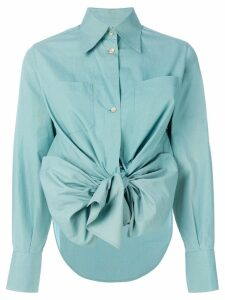 Jean Paul Gaultier Pre-Owned high low hem bow shirt - Green