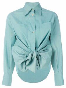 Jean Paul Gaultier Pre-Owned high low hem bow shirt - Green