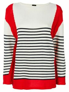 Jean Paul Gaultier Pre-Owned blockcolour striped jumper - White