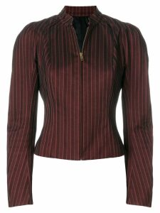 John Galliano Pre-Owned pinstriped zipped blouse - Red