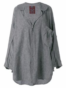 John Galliano Pre-Owned 1985 oversized shirt - Grey
