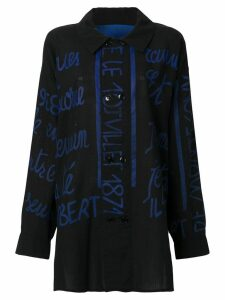JC de Castelbajac Pre-Owned handwritting printed shirt - Black