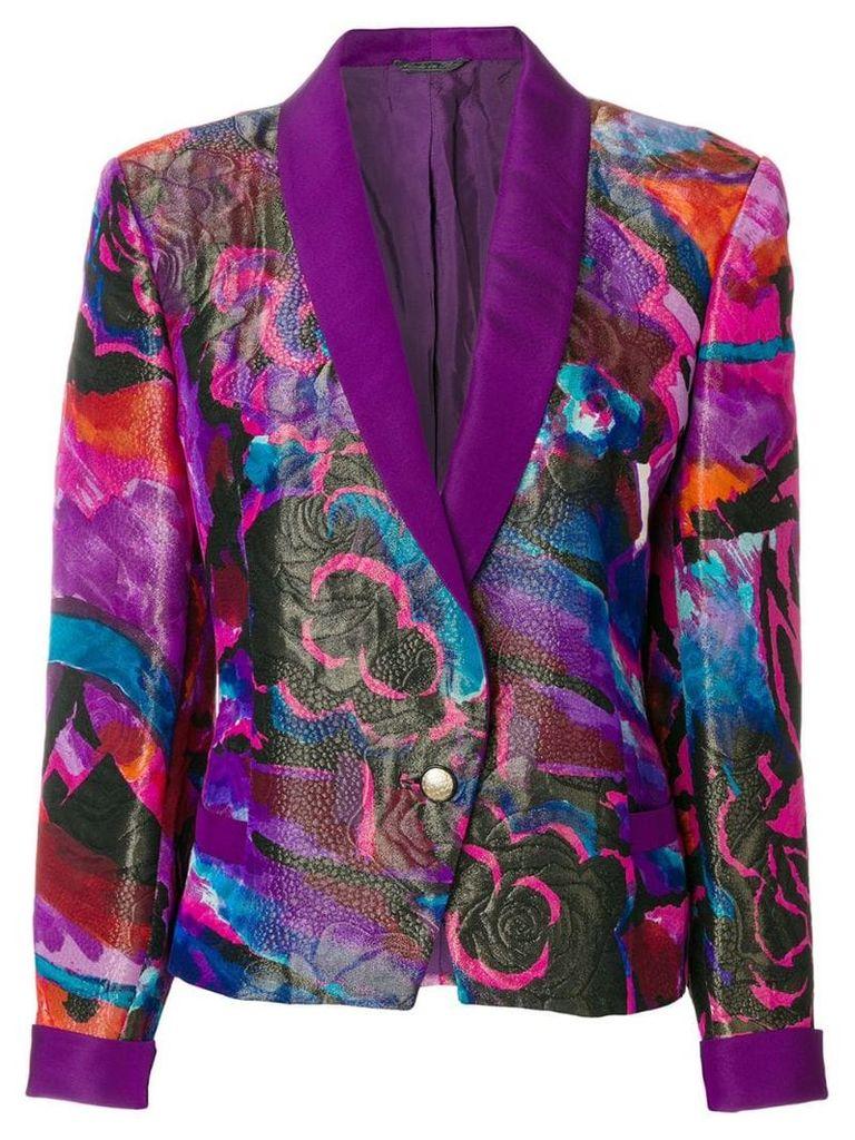Versace Vintage rose print jacket - Pink & Purple