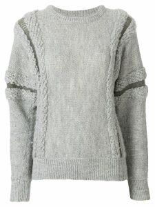 Issey Miyake Pre-Owned knit sweater - Grey