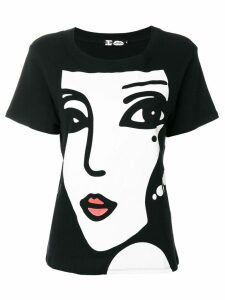 Kansai Yamamoto Pre-Owned Face & Logo printed T-shirt - Black