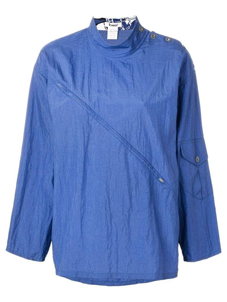 Kansai Yamamoto Vintage waterproof jacket - Blue