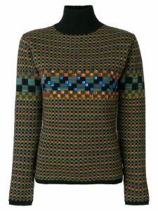 Jean Paul Gaultier Pre-Owned square pattern knit jumper - Multicolour