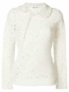 Comme Des Garçons Pre-Owned twisted knitted blouse - White