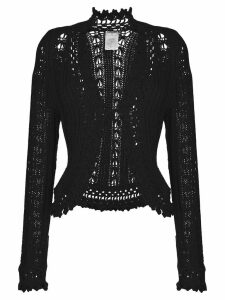 Chanel Pre-Owned embroidered fitted cardigan - Black