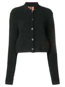 Romeo Gigli Pre-Owned cropped textured cardigan - Grey