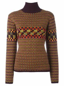 Jean Paul Gaultier Pre-Owned checked embellished turtleneck jumper -