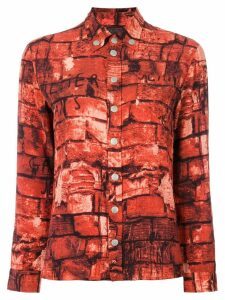 Jean Paul Gaultier Pre-Owned brick print shirt - Multicolour