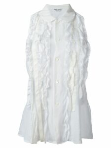 Comme Des Garçons Pre-Owned Robe de Chambre sheer bib top - White