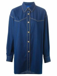 Guy Laroche Pre-Owned denim shirt - Blue