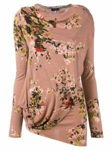 Kenzo Pre-Owned floral asymmetric top - Pink