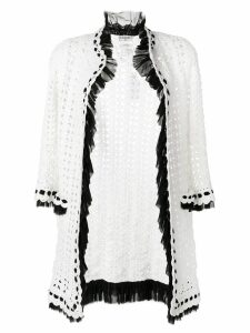 Chanel Pre-Owned crochet knit cardigan - White