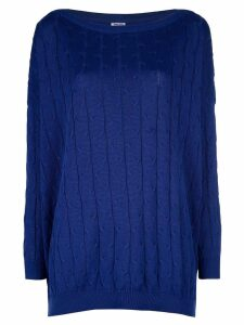 Romeo Gigli Pre-Owned Cable knit sweater - Blue