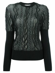 Christian Dior Pre-Owned lace overlay jumper - Black