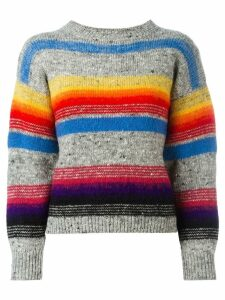 Kansai Yamamoto Pre-Owned striped pattern jumper - Multicolour